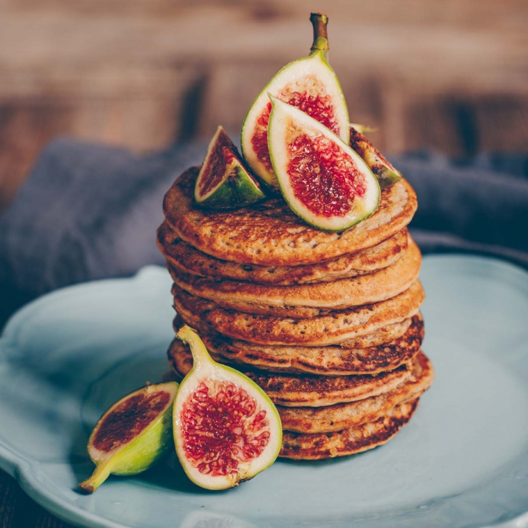 Chia Coconut Pancakes with Figs