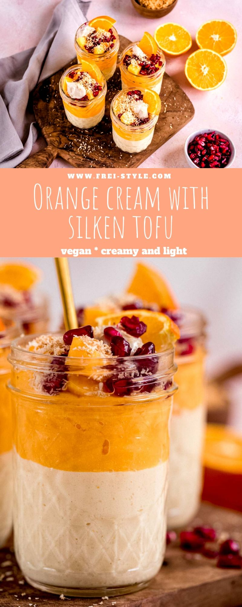 Orange cream with silken tofu