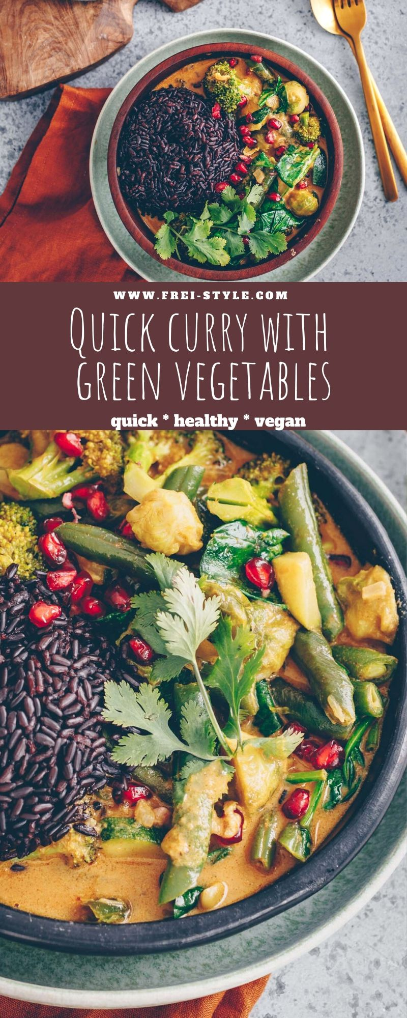 quick curry with green vegetables